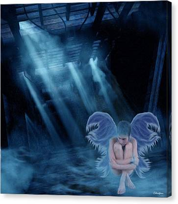 Blue Fairy Canvas Print by Maggie  Smith