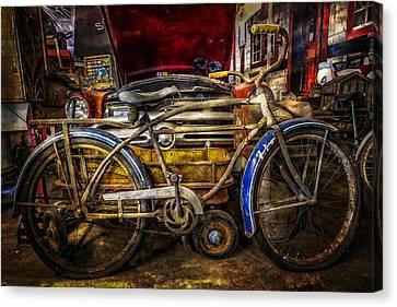 Blue Fenders Canvas Print by Debra and Dave Vanderlaan