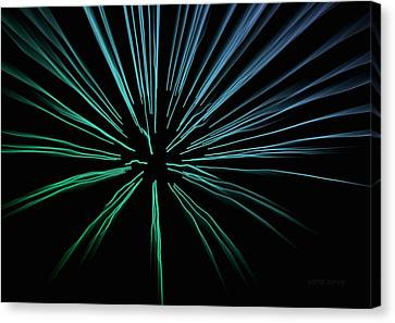 Canvas Print featuring the photograph Blue Firework by Chris Berry