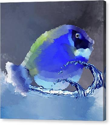 Blue Fish Canvas Print