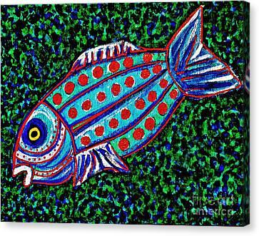 Blue Fish Canvas Print by Sarah Loft