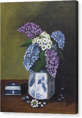 Canvas Print - Blue Fish Vase by Kim Selig