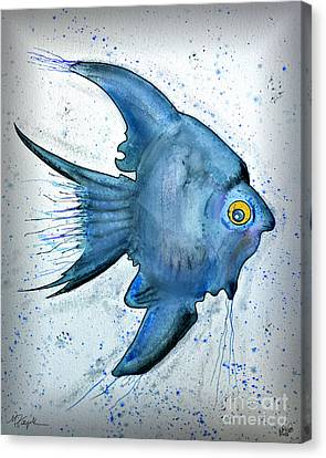 Canvas Print featuring the photograph Blue Fish by Walt Foegelle