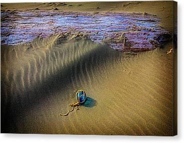 Blue Fishing Net Float Canvas Print