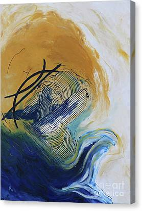 Canvas Print featuring the painting Blue Flame Vi by Christiane Schulze Art And Photography