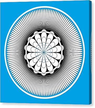 Blue Floral Design Canvas Print by Frank Tschakert