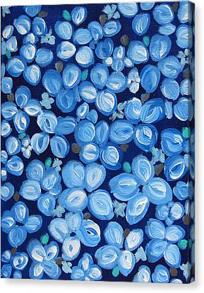 Blue Floral Frenzy Canvas Print