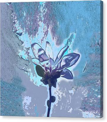 Blue Flower Fantasy Canvas Print