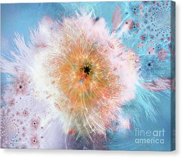 Blue Flower Power Canvas Print