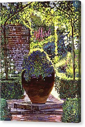 Blue Flowers Canvas Print by David Lloyd Glover