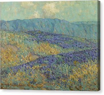 Blue Flowers Canvas Print by Granville Redmond