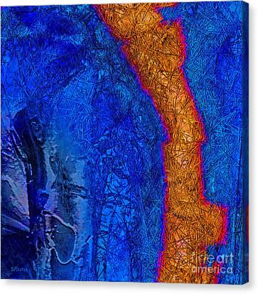 Blue Force Canvas Print by Dee Flouton