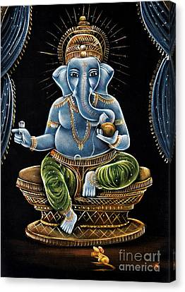 Shri Ganesha Canvas Print by Tim Gainey