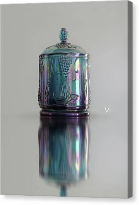 Blue Glass Cookie Jar Canvas Print