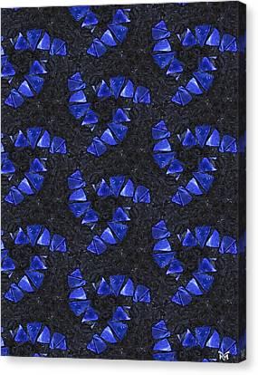 Blue Glass  Canvas Print by Maria Watt