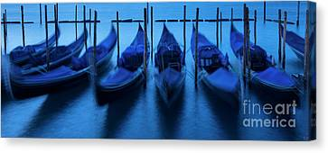 Canvas Print featuring the photograph Blue Gondolas by Brian Jannsen