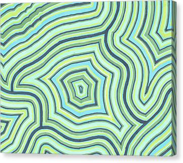 Blue Green Pattern Play Canvas Print by Jill Lenzmeier