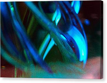 Blue Green Texture Canvas Print by Don  Wright