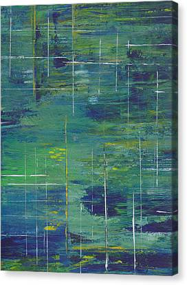 Blue Green Yellow Abstract  Canvas Print by Patricia Cleasby