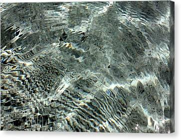 Canvas Print featuring the digital art Blue Grey Swirls by Ellen Barron O'Reilly