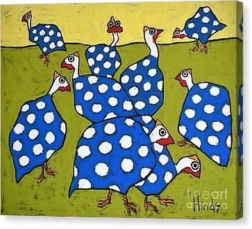 Blue Guineas Canvas Print