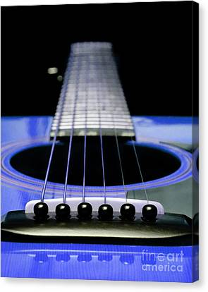 Blue Guitar 14 Canvas Print by Andee Design
