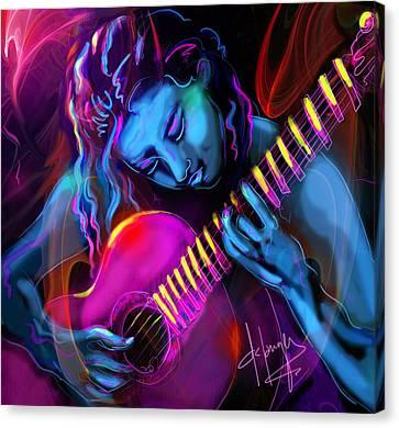 Blue Heart Canvas Print by DC Langer