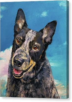 Cattle Dog Canvas Print - Blue Heeler by Michael Creese