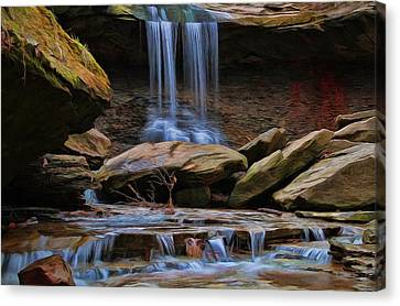 Blue Hen Falls In Cuyahoga Valley National Park Canvas Print by Dan Sproul
