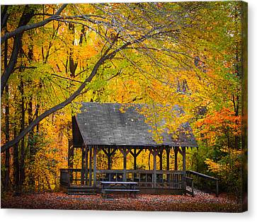 Blue Heron Park In The Fall 2 Canvas Print