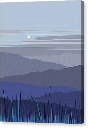 Blue Hills Vertical Canvas Print by Val Arie
