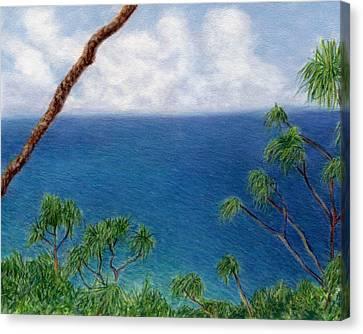 Blue Horizon Canvas Print by Kenneth Grzesik