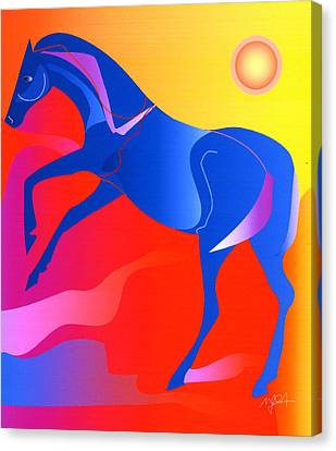Blue Horse Canvas Print by Mary Armstrong