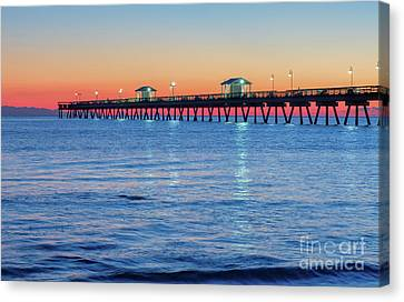 Blue Hour At Ocean View Pier Canvas Print