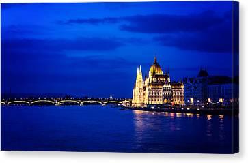 Blue Hour Budapest Canvas Print