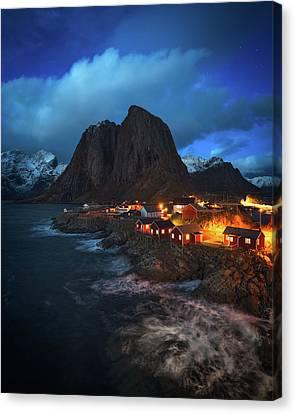 Blue Hour Canvas Print - Blue Hour In Lofoten by Tor-Ivar Naess