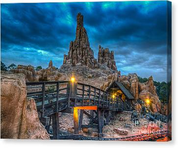Blue Hour Over Big Thunder Mountain Canvas Print