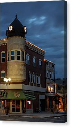 Blue Hour Over The Clock Tower Canvas Print by Tim Bryan