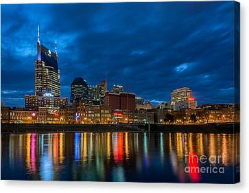 Blue Hour Reflections Canvas Print