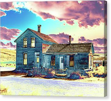 Canvas Print featuring the photograph Blue House by Jim and Emily Bush