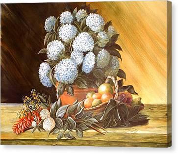 Blue Hydrangias Canvas Print