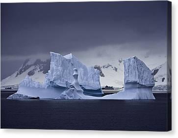 Blue Ice Antarctica Canvas Print