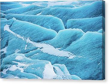 Blue Ice Svinafellsjokull Glacier Iceland Canvas Print by Matthias Hauser