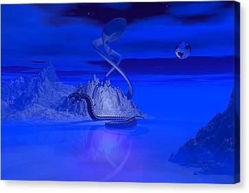Blue Ice World Dragon Canvas Print