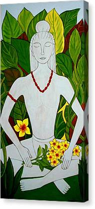 Canvas Print featuring the painting Blue Idol by Stephanie Moore