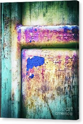 Blue In Iron Door Canvas Print