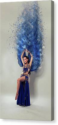 Blue Is The Colour Canvas Print by Nichola Denny