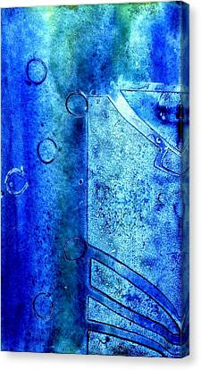 Blue Iv Canvas Print by John  Nolan