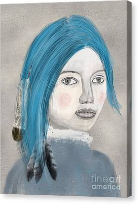 Canvas Print featuring the painting Blue Jasmine by Bri B