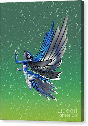 Blue Jay Fairy Canvas Print by Stanley Morrison